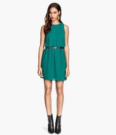 Sleeveless Dress, Teal Art. No. 37-3969 $34.95   H&M US