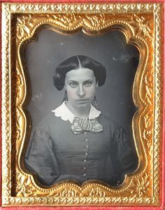 PRETTY WOMAN YOUNG LADY RIBBONS IN HAIR ABOUT TO SMILE 1/9 DAGUERREOTYPE D429 | Collectibles, Photographic Images, Vintage & Antique (Pre-1940) | eBay!