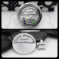 Hand-Stamped 30mm Love Doesn't Count by MyHeroCreations on Etsy