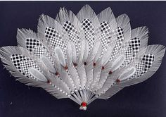 Finished fan with gems, via Flickr.