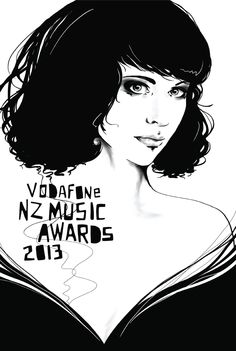 New Zealand Music Awards 1 by Linda Munt, via Behance Music Awards, New Zealand, Behance, Style Inspiration, Inspired, News, Illustration, Movies, Movie Posters