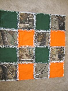 Camo Baby Rag Quilt by MalnJam on Etsy, $35.00