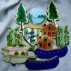 """Patricia O'Brien """"Weekend Up North"""" cookies for Father's Day"""