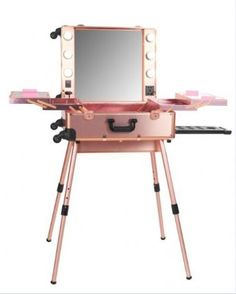 Large Rose Gold OPV Lighted Mirror Cases withLegs(Led Lights)