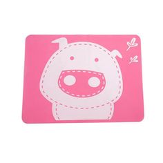 Dinning Table Placemats Tablemat Children Kids Non-slip Cartoon Small Pig Waterproof Silicone Placemat Pvc Dining Table Mat Cartoon Pig, Small Pigs, Pad, Dinning Table, Decorative Accessories, Quilts, Free Shipping, Table Decorations, Children