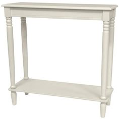 Oriental Furniture 31 in. Classic Design Hall Table , Width - in. in White, Global Decor, Table, White End Tables, Hall Console Table, Oriental Furniture, Furniture, Sofa End Tables, Handmade Wood, Small Sofa