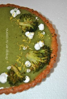 Tarta de brocoli y limon //  BROCCOLI AND LEMON TARTLET