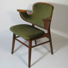 Hans Olsen Arm Chair in Green Mohair | From a unique collection of antique and modern armchairs at http://www.1stdibs.com/furniture/seating/armchairs/
