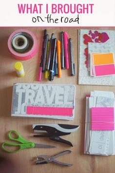 Road trip #travel #art #supplies