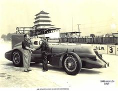 Ab Jenkins, MMIII, and Augie Duesenberg at Indianapolis 1938