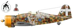 Fiat G.50 (MM5372 serial number), which is from October 1940 to spring 1941. was personal aircraft commander of the 20 th major group (later Lieutenant-Colonel) Mario Bontsano (Mario Bonzano).