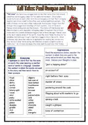 English worksheet: Comprehension: Babe the Blue Ox