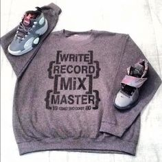'WRITE.RECORD.MIX.MASTER' Crewneck by Coast 2wo Coast Clothing Collection