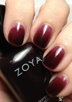 Syrup Mani -- used a different nail polish, still a dark red, turned out great, would certainly do again--