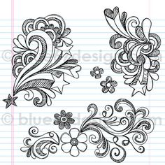 Swirly Back to School Sketchy Notebook Doodles Illustration by blue67design by blue67design, via Flickr
