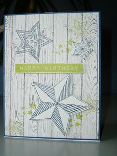 Be The Star Birthday card by Ink-Creatable WOH - Stampin' Up's Be The Star; Altenew's Label Love