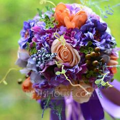 Wedding Flowers - $49.99 - Fascinating Free-Form Satin Bridesmaid Bouquets (124032051) http://jjshouse.com/Fascinating-Free-Form-Satin-Bridesmaid-Bouquets-124032051-g32051/?utm_source=crtrem&utm_campaign=crtrem_US_28010