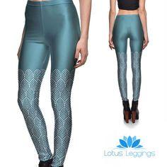 Teal Dreams Leggings - Lotus Leggings Printed Leggings, Women's Leggings, Compression Pants, Teal Colors, Workout Leggings, Leggings Fashion, Joggers, Leather Pants, Capri Pants