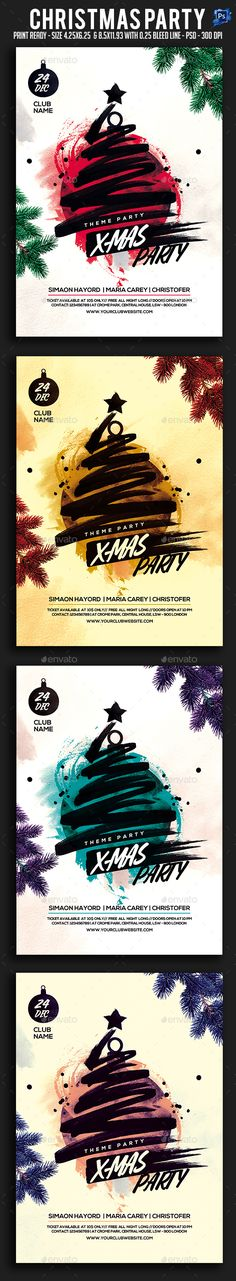 #Christmas #Party #Flyer - Clubs & Parties Events