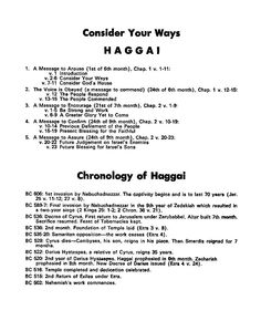 Haggai bible study