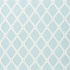 Libbey Avenue Lattice Wallpaper in Blue