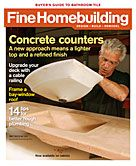 "Guess who was able to pick up the latest issue of Fine Homebuilding that was laying on the counter at the endodontists today and casually say, ""Oh… Buddy Rhodes is on the cover… cool"".  Yeah, *me*.  That's who.  Uh huh."