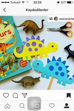 Dinosaur Crafts, Fish Crafts, Diy And Crafts, Arts And Crafts, Paper Crafts, Preschool Crafts, Toddler Activities, Preschool Activities, Summer Camp Crafts