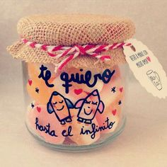 Ideas Aniversario, Ice Cream Party, Candy Store, Candy Jars, Boyfriend Gifts, Anniversary Gifts, Diy And Crafts, Mason Jars, Valentines Day