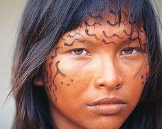 Brazilian native woman. Beautiful!