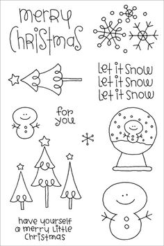 Doodlebug clear stamp, but could make a cute little Christmas decoration! (xmas holidays simple)