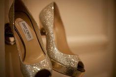 Jimmy Choo wedding shoes.