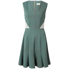 Buy Almari Lace Insert Ponti Panel Dress, Sage Online at johnlewis.com