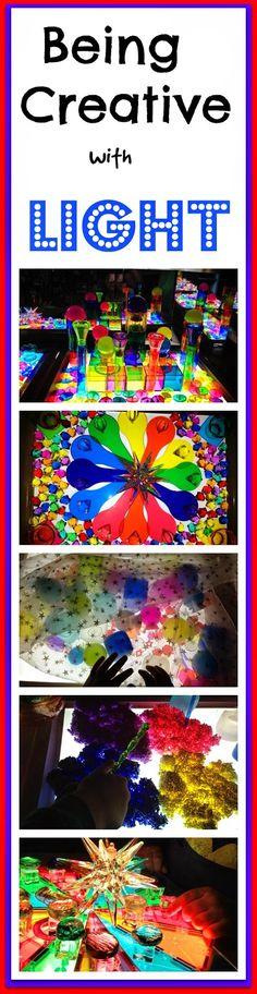 creative light table play ~ Shari at TFC