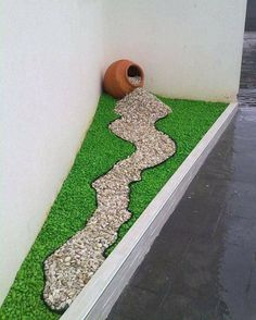 Simple, easy and cheap DIY garden landscaping ideas for front yards and backyards. Many landscaping ideas with rocks for small areas, Garden Paths, Garden Art, Porch Garden, Big Garden, Garden Landscape Design, Front Yard Landscaping, Landscaping Design, Residential Landscaping, Small Gardens