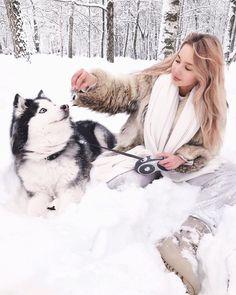 Anastasia La Superba (@la.superba) в Instagram. Husky , алсяскинский маламут , girl and dog