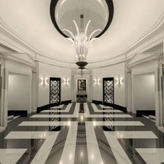 phoebe howard black white diamond marble floor - Google Search