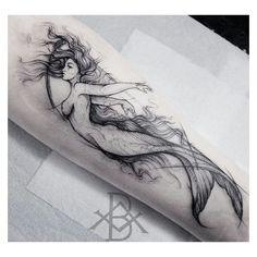 Skinart By Brunoalmeida Art ___ Art Page Equilatterart – Skinart By Brunoalmeida… Mermaid tattoo – Top Fashion Tattoos Mermaid Sleeve Tattoos, Mermaid Tattoo Designs, Mermaid Drawings, Mermaid Art, Tattoo Mermaid, Trendy Tattoos, Love Tattoos, Beautiful Tattoos, Body Art Tattoos