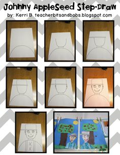 How to draw Johnny Appleseed! Love this!