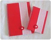Kit Cadernos Vermelho