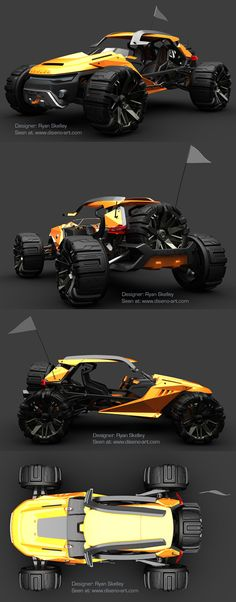 ♂ The Bowler Raptor concept is the work of Ryan Skelley, a 2009 graduate of Coventry University's Automotive Design course. Previous work from Skelley featured on diseno-art.com includes the Sunbeam Tiger sports car concept. Original from http://www.onassisauto.c