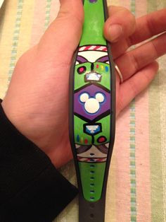 Disney Buzz lightyear magic band handmade diy! Made by myself with craft smart paint pens. Waterproof! :) #diy #magicbands #disney