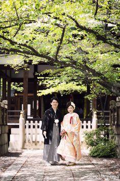 新緑の桜の木の下で*和装前撮り |*ウェディングフォト elle pupa blog*|Ameba (アメーバ)