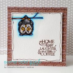 Tired Owl New Release Card