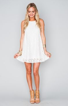 Ritzy Dress ~ Sparkle Lace White | Show Me Your MuMu
