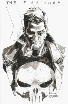AWESOME WARNING: The Punisher by Kenneth Rocafort (@Mitografia) #PunisherApproved