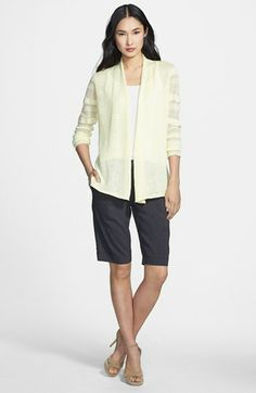 Eileen Fisher Cardigan, Tank & Walking Shorts  available at #Nordstrom