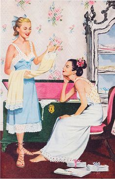 A charmingly pretty ad for Ivory Snow Dream Lingerie. now most real clothing are less modest than their lingerie back then. Retro Mode, Mode Vintage, Vintage Ads, Vintage Images, Retro Humor, Vintage Humor, Retro Funny, 1940s Fashion, Vintage Fashion