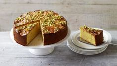 BBC - Food - Recipes : Apricot almond cake with rosewater and cardamom