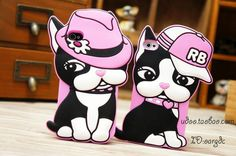 NEW 3D Cute Animal Cartoon Bulldog RB Rebecca Bonbon Dachshund Dog Case Soft Rubber Silicone Case Cover for iphone 5 5S 5G 4 4S-in Phone Bags & Cases from Electronics on Aliexpress.com   Alibaba Group