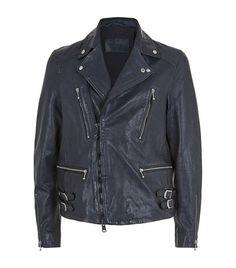 ALLSAINTS Ario Leather Biker Jacket. #allsaints #cloth #